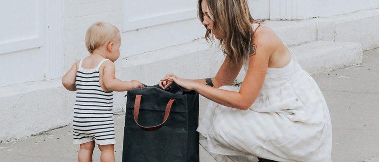 The Anne York Diaper Bag – stylish, artisan made, practical